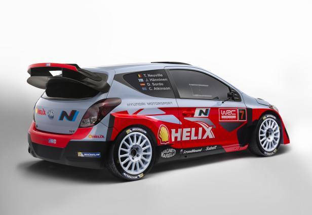 Hyundai i20 WRC: Heckflügel für Downforce.