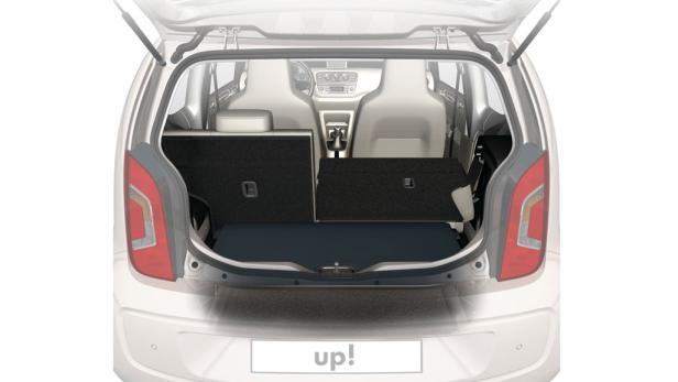 Der Laderaum im kleinen VW ist überraschend groß und flexibel. Mit 251 bis 951 Liter erreicht er fast Polo-Niveau.