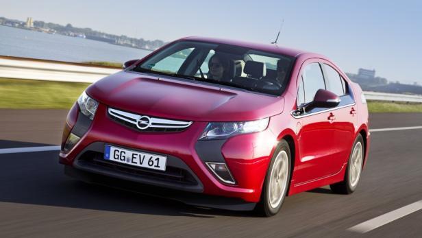 Das Elektroauto Opel Ampera kommt Mitte Jänner auf den Markt.