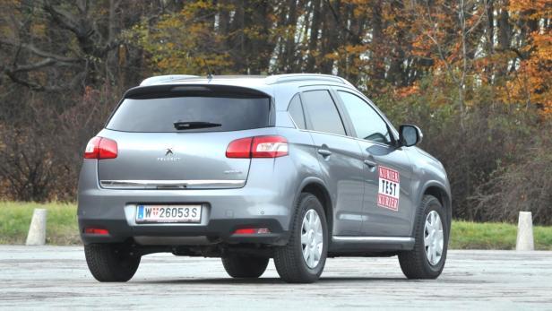 Peugeot 4008: Bulliges, robust wirkendes SUV.