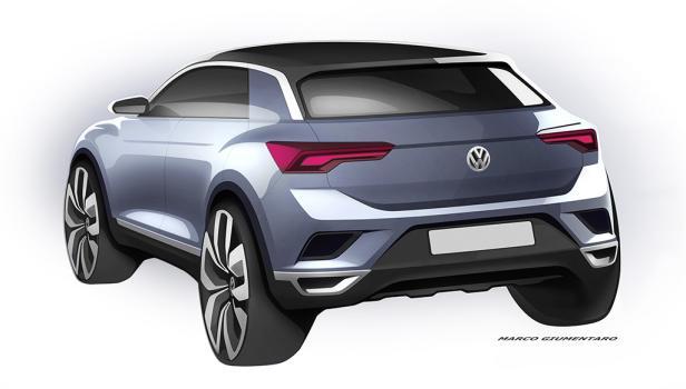 Erste Skizzen: So schaut der VW T-ROC aus | motor.at