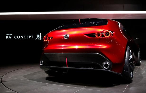 Mazda Motor displays the company's Kai Concept during media preview of the 45th Tokyo Motor Show in Tokyo