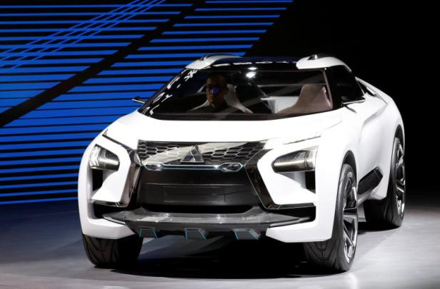 Mitsubishi Motors presents e-Evolution concept  during media preview of the 45th Tokyo Motor Show in Tokyo