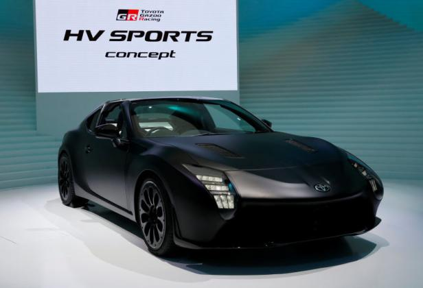 Toyota Motor GAZOO Racing HV Sports concept is displayed during media preview of the 45th Tokyo Motor Show in Tokyo