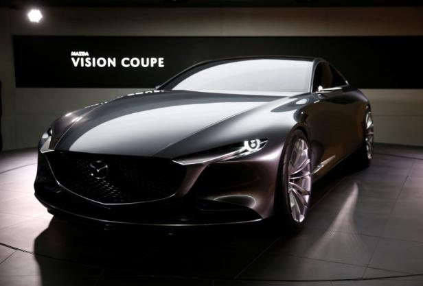 Mazda Motor displays the company's Vision Coupe during media preview of the 45th Tokyo Motor Show in Tokyo