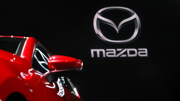 FILE PHOTO: A Mazda 3 is seen on display at the 2019 New York International Auto Show in New York