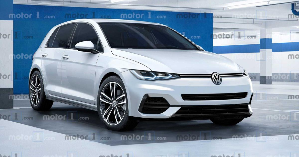 renderings so k nnte der neue vw golf 2019 aussehen. Black Bedroom Furniture Sets. Home Design Ideas
